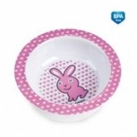 Melaminová miska s přísavkou Canpol Babies - Zajíček