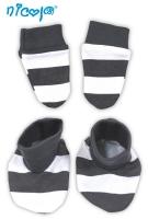 Kojenecká sada - rukavičky s botičkami NICOL MÝVAL