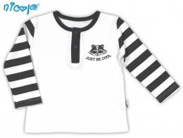 Bavlněné tričko/polo NICOL MÝVAL - dlouhý rukáv