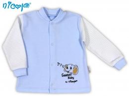 Kojenecká bavlněná košilka NICOL VESELÝ SLONÍK