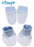 Kojenecká sada - rukavičky s botičkami NICOL VESELÝ SLONÍK