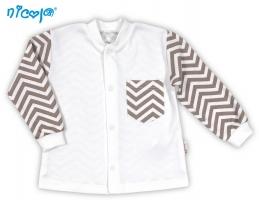 BIO kojenecká bavlněná košilka NICOL MEDVÍDEK