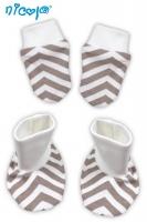 BIO kojenecká sada - rukavičky s botičkami NICOL MEDVÍDEK