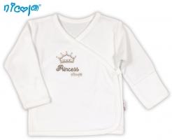 BIO kojenecká košilka NICOL PRINCEZNA - zapínání bokem