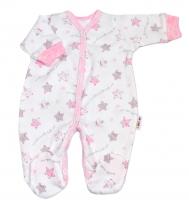 Overálek pro předčasně narozená miminka Baby Nellys ® - Hvězdičky růžové