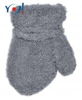 Zimní kojenecké chlapecké froté rukavičky YO - šedé
