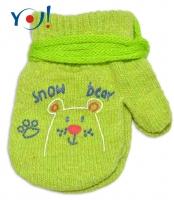 Kojenecké chlapecké akrylové  rukavičky YO - zelené