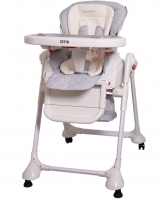 Jídelní židlička a houpačka 2v1 ZEFIR - šedá