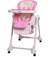 Jídelní židlička a houpačka 2v1 ZEFIR - růžova