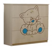 Dětská komoda - Kočička modrá