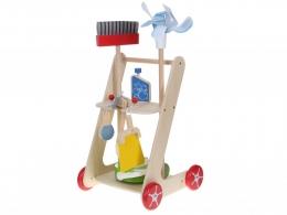 Dřevěný úklidový vozík s doplňky ECO TOYS