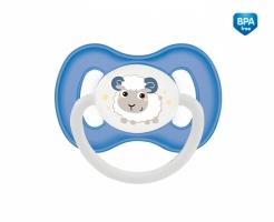 Dudlík symetrický Canpol Babies 0-6m A, Bunny&Company -  ovečka modrá