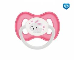 Dudlík symetrický Canpol Babies 6-18m B, Bunny&Company -  králiček růžový