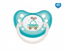 Dudlík anatomický Canpol Babies 6-18m B, Toys -  autíčko modro/zelené