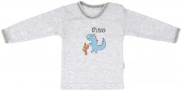 Bavlněné tričko Mamatti DINO - dlouhý rukáv