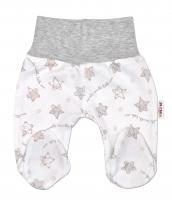 Polodupačky pro předčasně narozená miminka Baby Nellys ® - Hvězdičky šedé