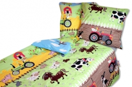 Bavlněné povlečení Baby Nellys ® 140 x 200 - Farma