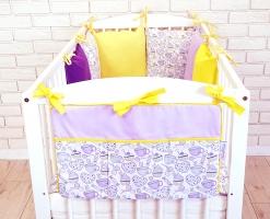 Praktický kapsář na postýlku Baby Nellys ® BE LOVE RETRO - č. 08