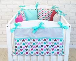 Praktický kapsář na postýlku Baby Nellys ® BE LOVE RETRO - č. 15
