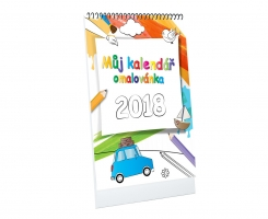 Můj kalendář - omalovánka A4