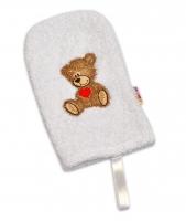 Žínka froté Baby Nellys ® Sweet TEDDY - bílá