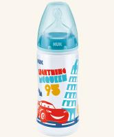 Lahvička NUK First Choice  - Disney Cars 300 ml - tyrkysová