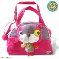 Stylová dětská taška Medvídek - růžový