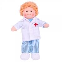 Hadrová panenka Doktor ADAM, 27cm