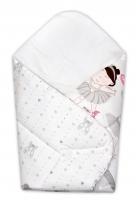Novorozenecká zavinovačka Princess Baby Nellys - šedá