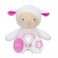 Ovečka s noční lampičkou Chicco - růžová