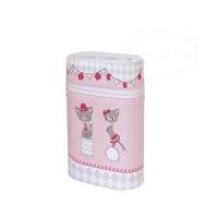 Termobox dvojitý CEBA Kočičky - růžové