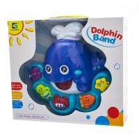 Interaktivní hračka s melodií - Velryba - modrá
