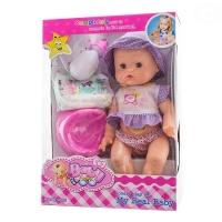 Panenka, miminko zpívající, čůrající a pijící - fialová