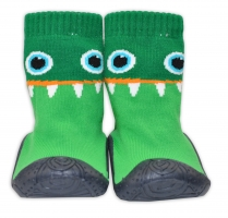 YO ! Ponožtičky s gumovou šlapkou - Příšerka zelená