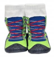 YO ! Ponožtičky s gumovou šlapkou -Tenisky zelené