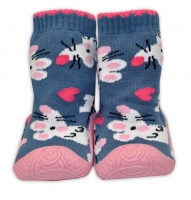 YO ! Ponožtičky s gumovou šlapkou - Myšky šedé