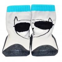 YO ! Ponožtičky s gumovou šlapkou - Kočička sv. šedé