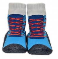 YO ! Ponožtičky s gumovou šlapkou - Tenisky modré