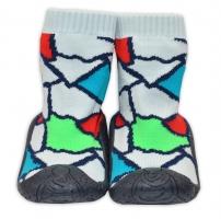 YO ! Ponožtičky s gumovou šlapkou - Ornamenty