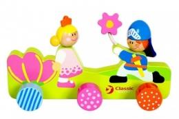 Dřevěný dětský věšák - Princezna