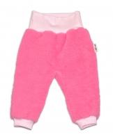 Chlupáčkové kalhoty, tepláčky  Baby Nellys ® - růžové