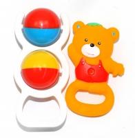 Kousátko a chrastítko Medvídek - žluté
