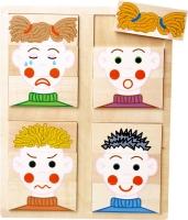 Dřevěné puzzle  - EMOCE