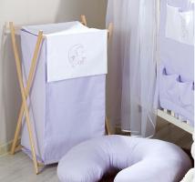 Luxusní praktický koš na prádlo - MĚSÍC fialový