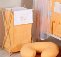 Luxusní praktický koš na prádlo - MĚSÍC broskev