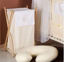 Luxusní praktický koš na prádlo - MĚSÍC krémový
