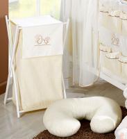 Luxusní praktický koš na prádlo - ZAJÍČCI ecru kr.