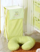 Luxusní praktický koš na prádlo - MRÁČEK zelený kr.