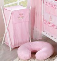 Luxusní praktický koš na prádlo - MRÁČEK růžový kr.