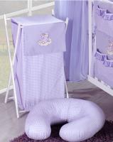 Luxusní praktický koš na prádlo - MRÁČEK fialový kr.